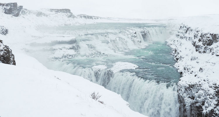 Gullfoss-waterval-IJsland-winter