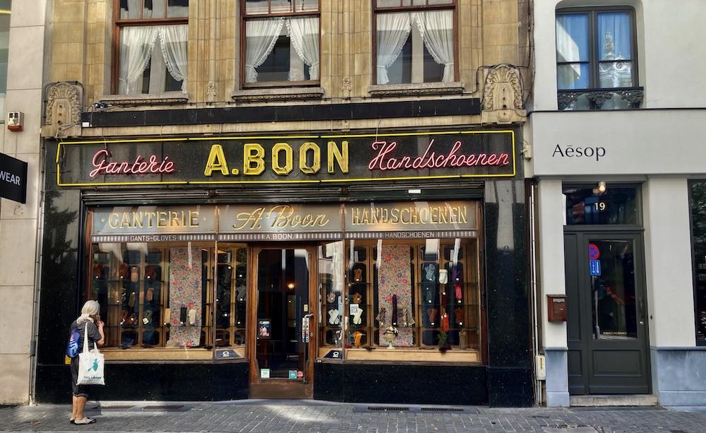 Handschoenenwinkeltje in Antwerpen