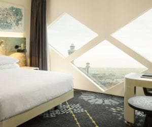 Hilton Schiphol Hotel raam view