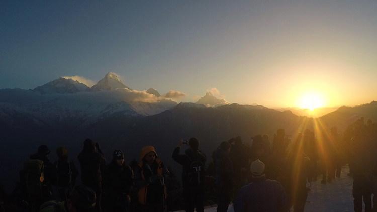 groep gids himalaya trekking nepal zonsopgang