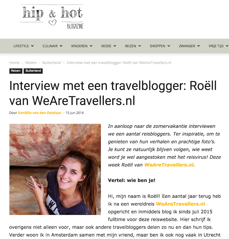 Hip & Hot wearetravellers interview