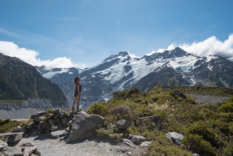 Hooker Valley Track Nieuw Zeeland bij Lake Pukaki