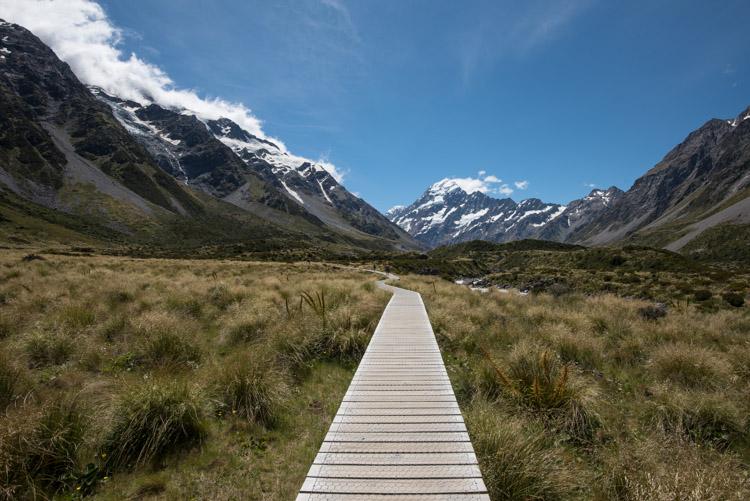 Hooker Valley Track Nieuw Zeeland pad Lake Pukaki