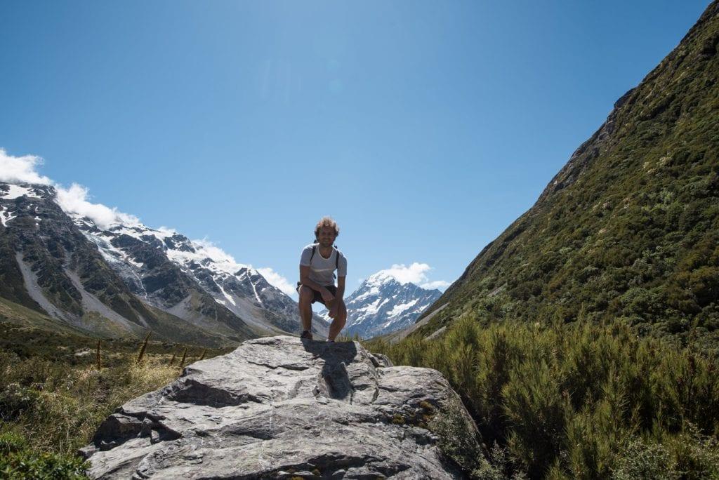 Hooker Valley Track Nieuw Zeeland tijdens hike