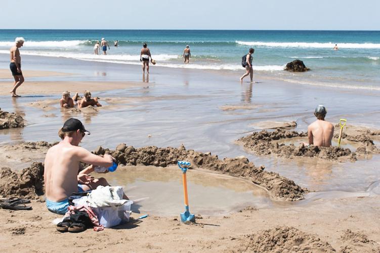 Hot water beach Nieuw Zeeland