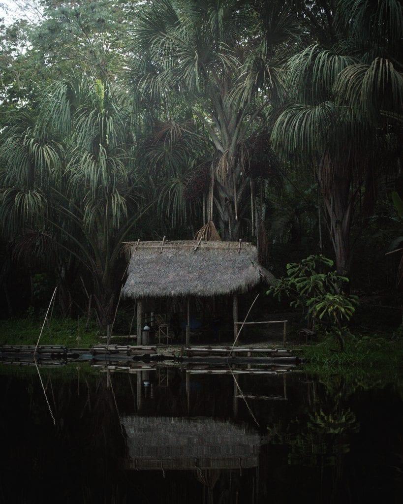 Hutje Jungle Manu in Peru
