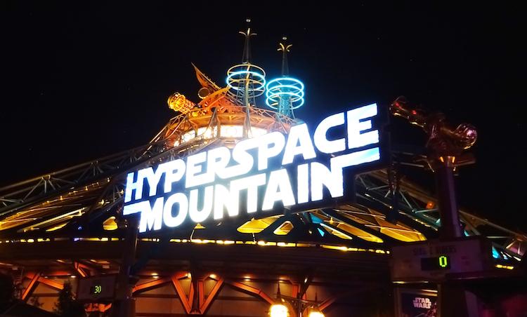 Hyperspace Mountain star wars disneyland