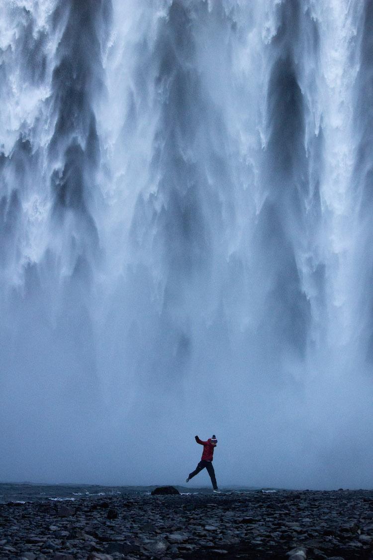 ijsland foto's watervallen