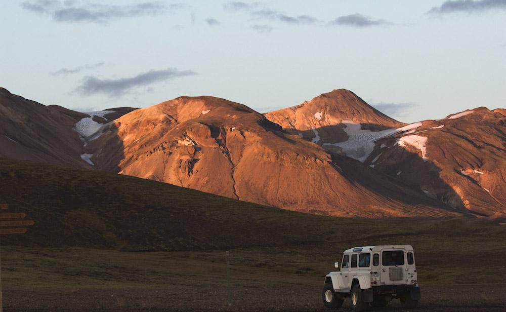 ijsland foto's landrover