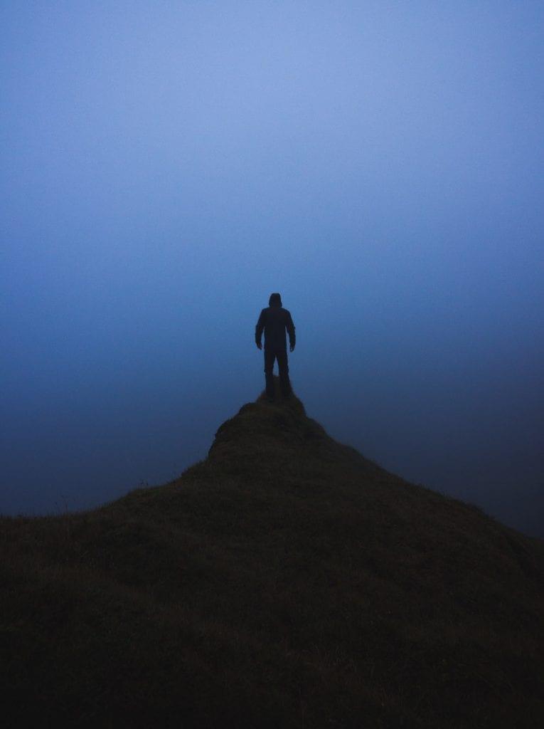 ijsland foto's mist