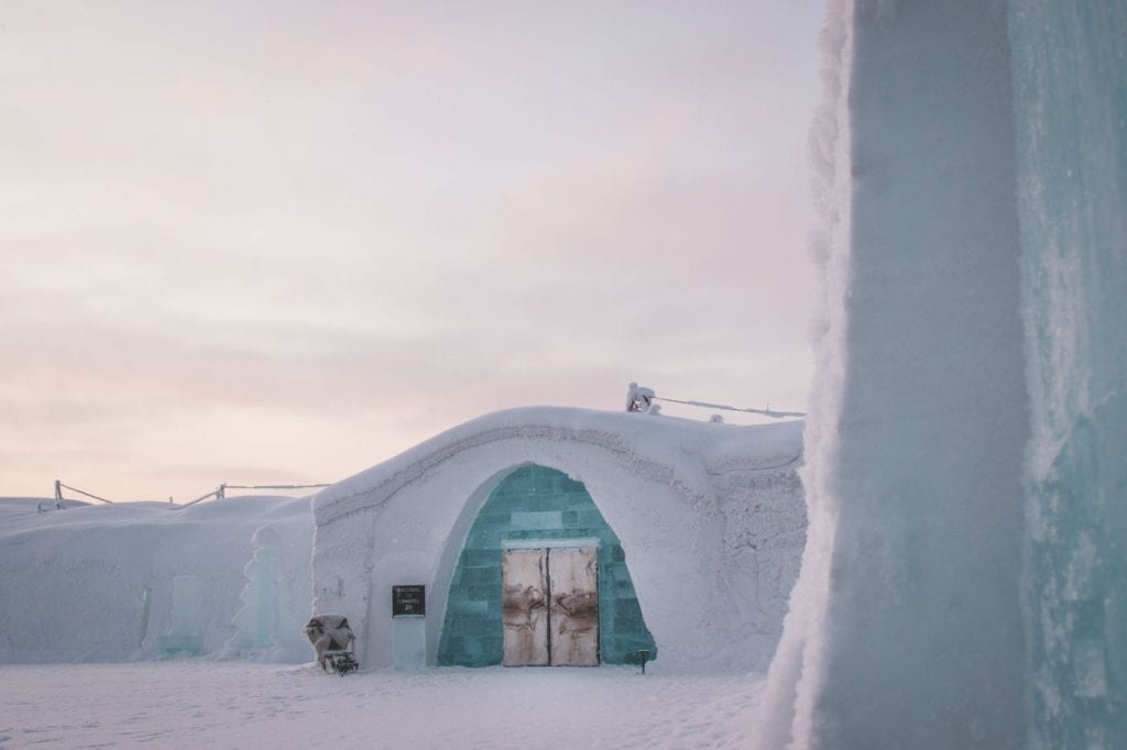 Ice Hotel Sweden entree