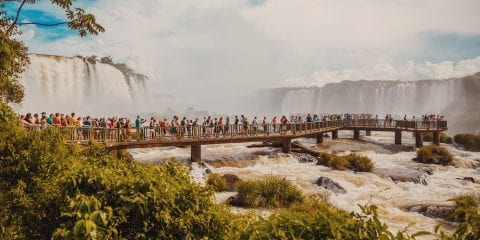 Iguacu watervall in Brazilie