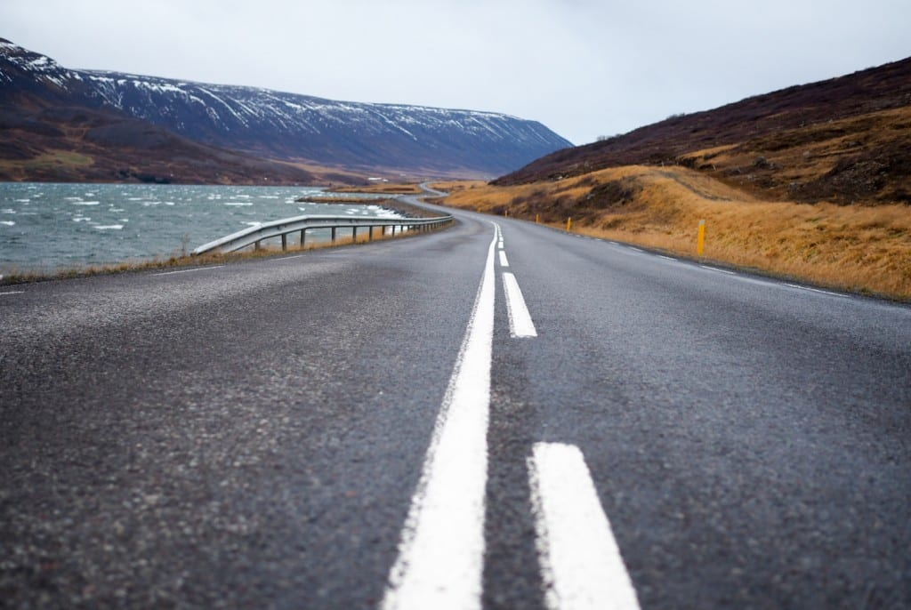 Ijsland Akureyri weg