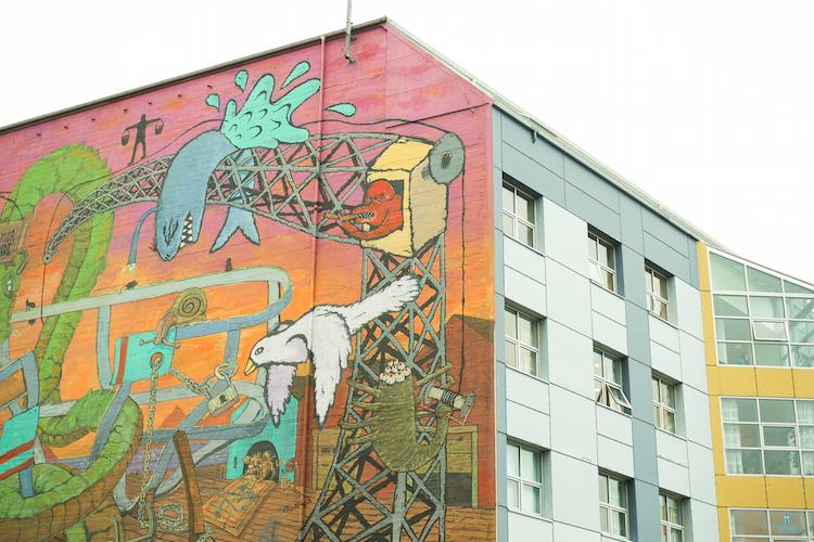 Ijsland reykjavik streetart