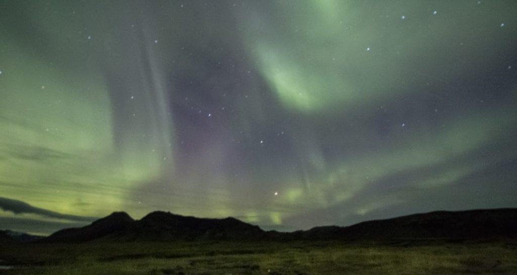 ijsland foto's noorderlicht