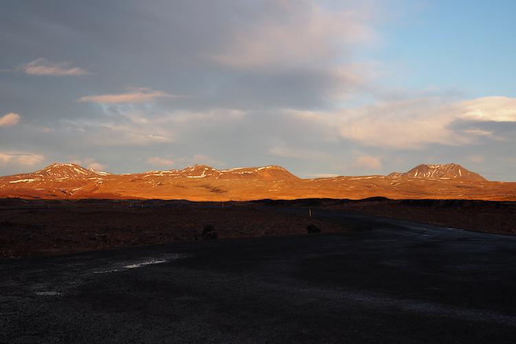 Ijsland zonsondergang