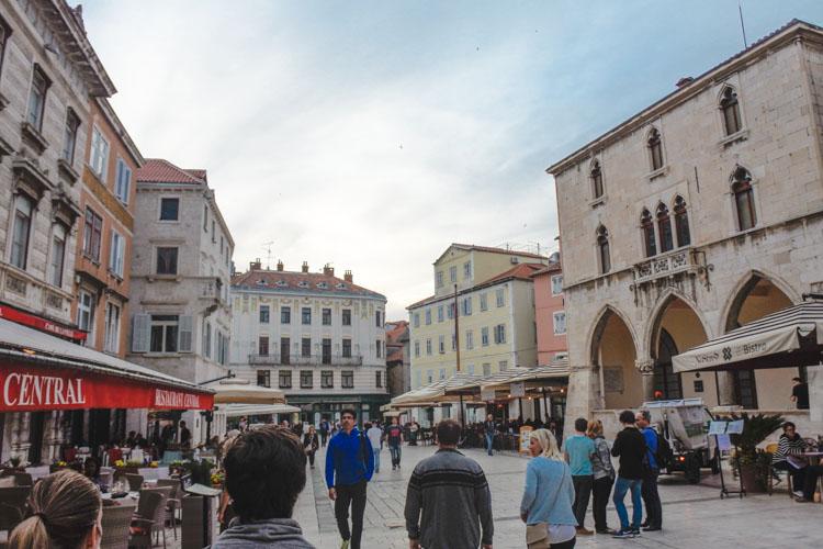 Interrail kroatie split stadje