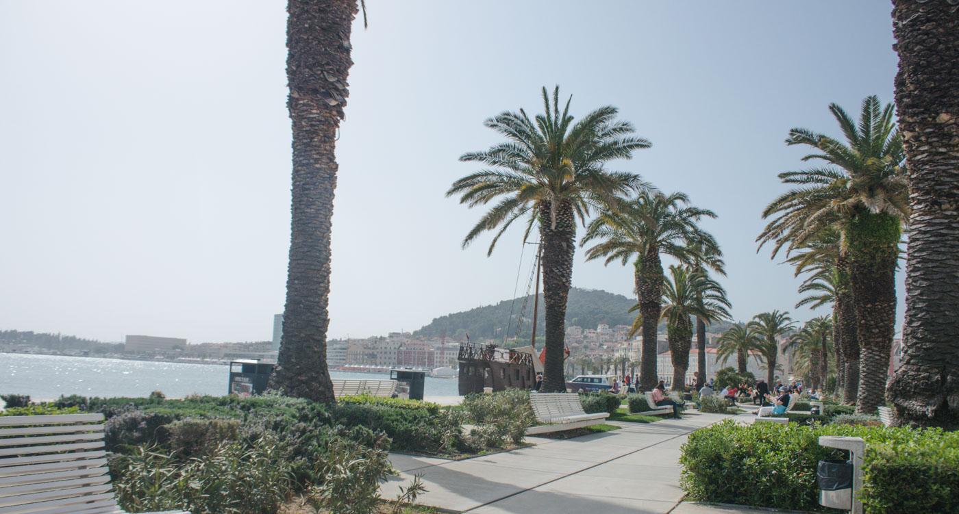 Interrail naar kroatie kust split