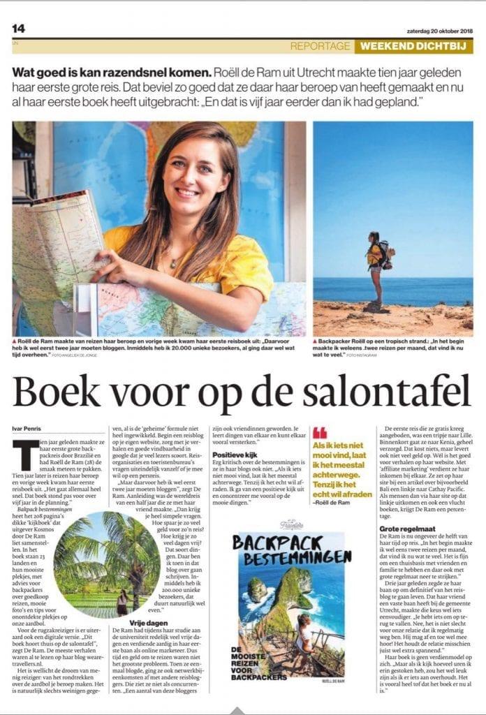 Interview Backpack Bestemmingen AD