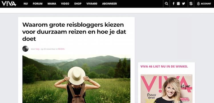 Interview Viva duurzaam reizen
