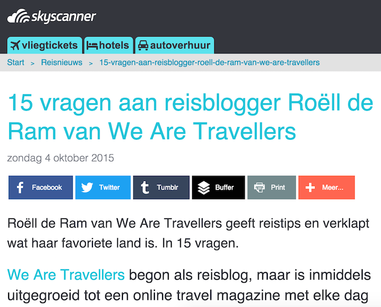 Interview WeAreTravellers skyscanner