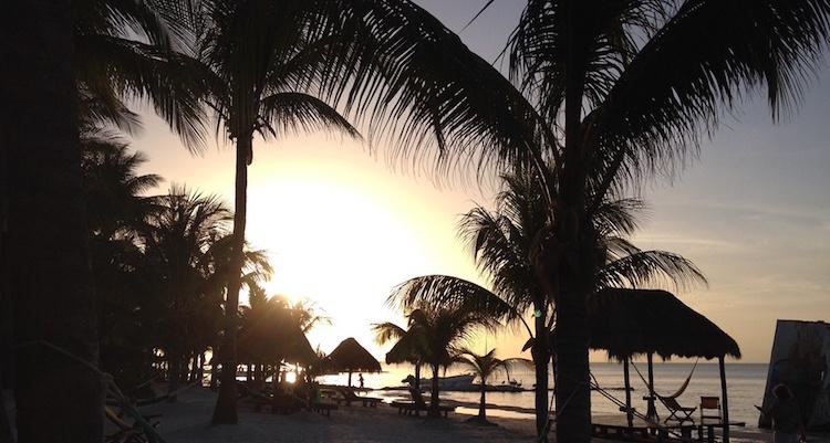 Isla Holbox zonsondergang