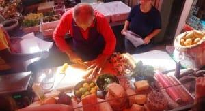 Italiaanse kaas markt