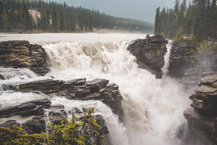 Jasper National Park Canada Athabasca Falls waterval