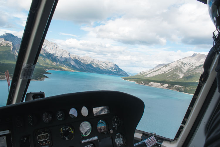 Jasper National Park Canada in helicopter_