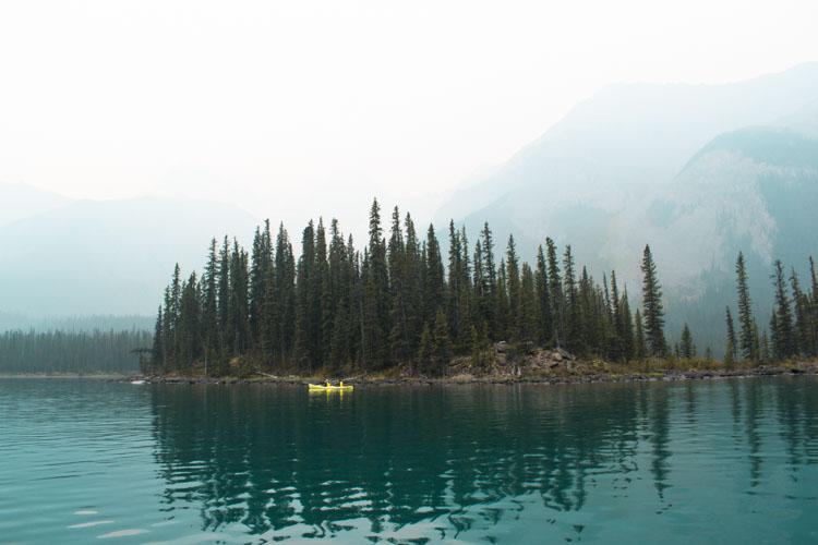 Jasper National Park Maligne Lake kano