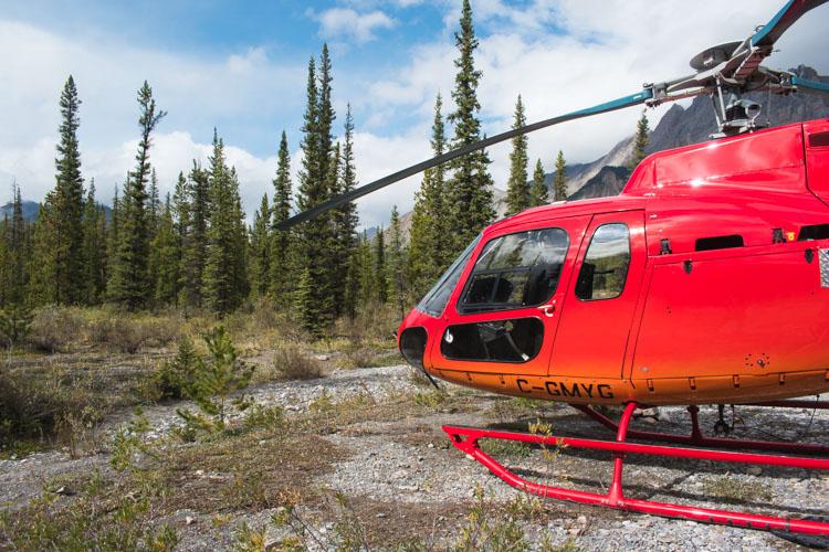 Jasper National Park helicoptervlucht helikopter