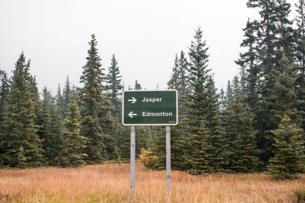 roadtrip West-Canada route Jasper National Park roadtrip Canada