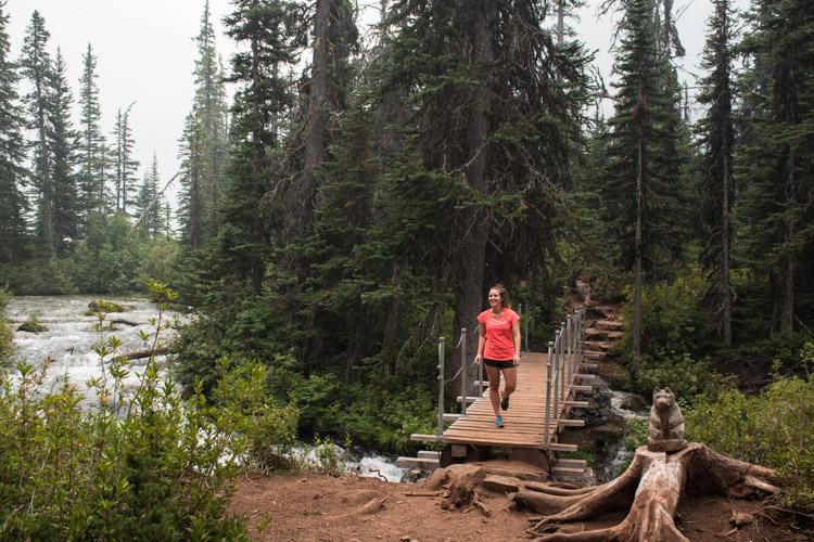 Joffre lakes Provincial Park hike naar upper joffre