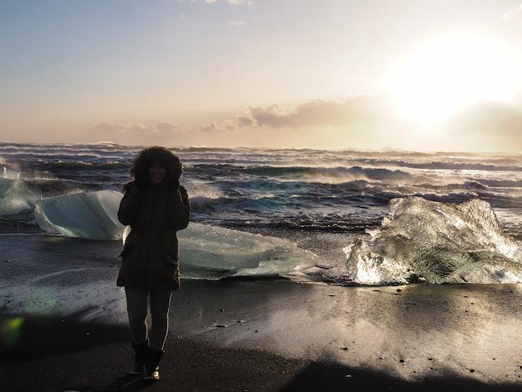 jokulsarlon beach ijsland