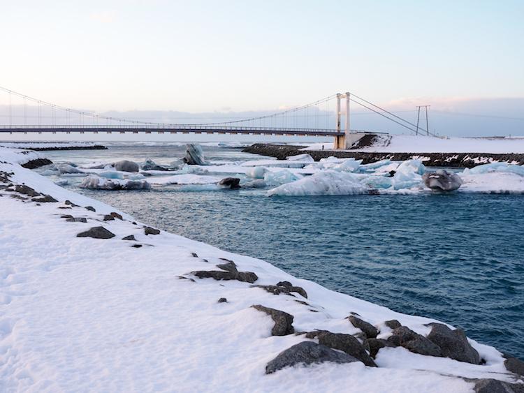 Jokulsarlon gletsjermeer parkeren brug