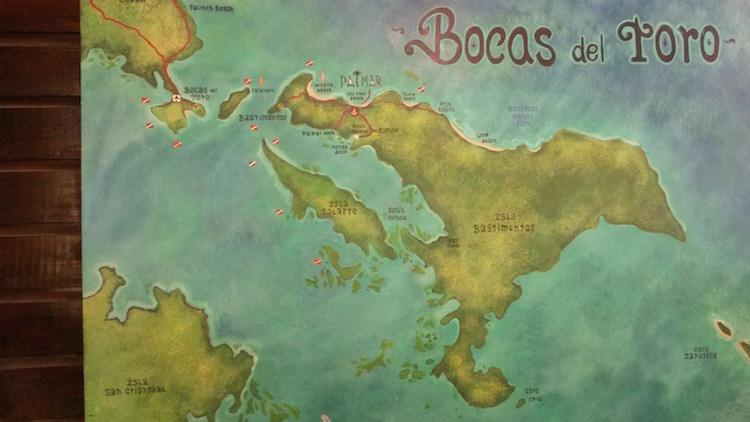Kaart Bocas del Toro panama