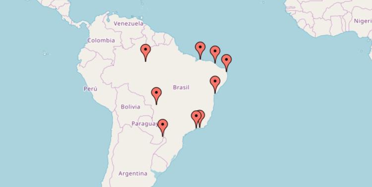Kaart Brazilie