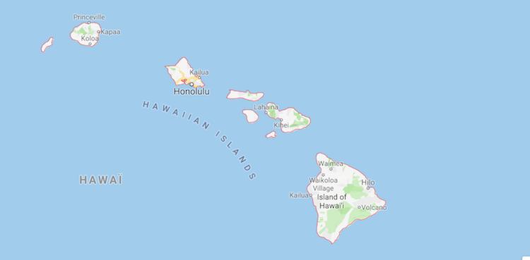 Kaart van Hawaii vakantie