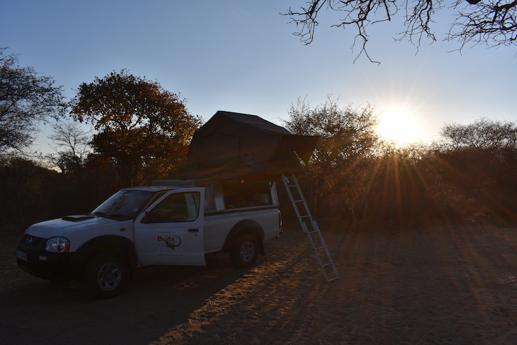 Kamperen in Botswana tijdens backpacken