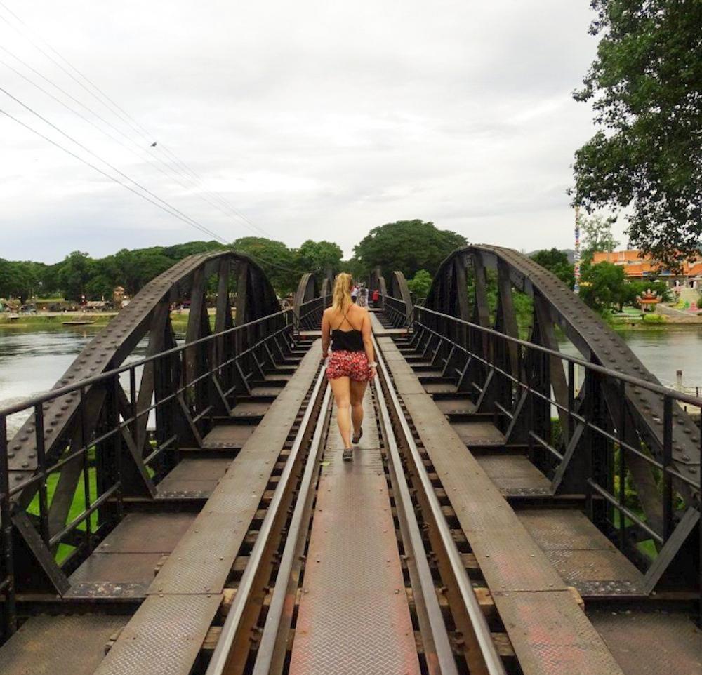 Kanchanaburi Bridge over the River