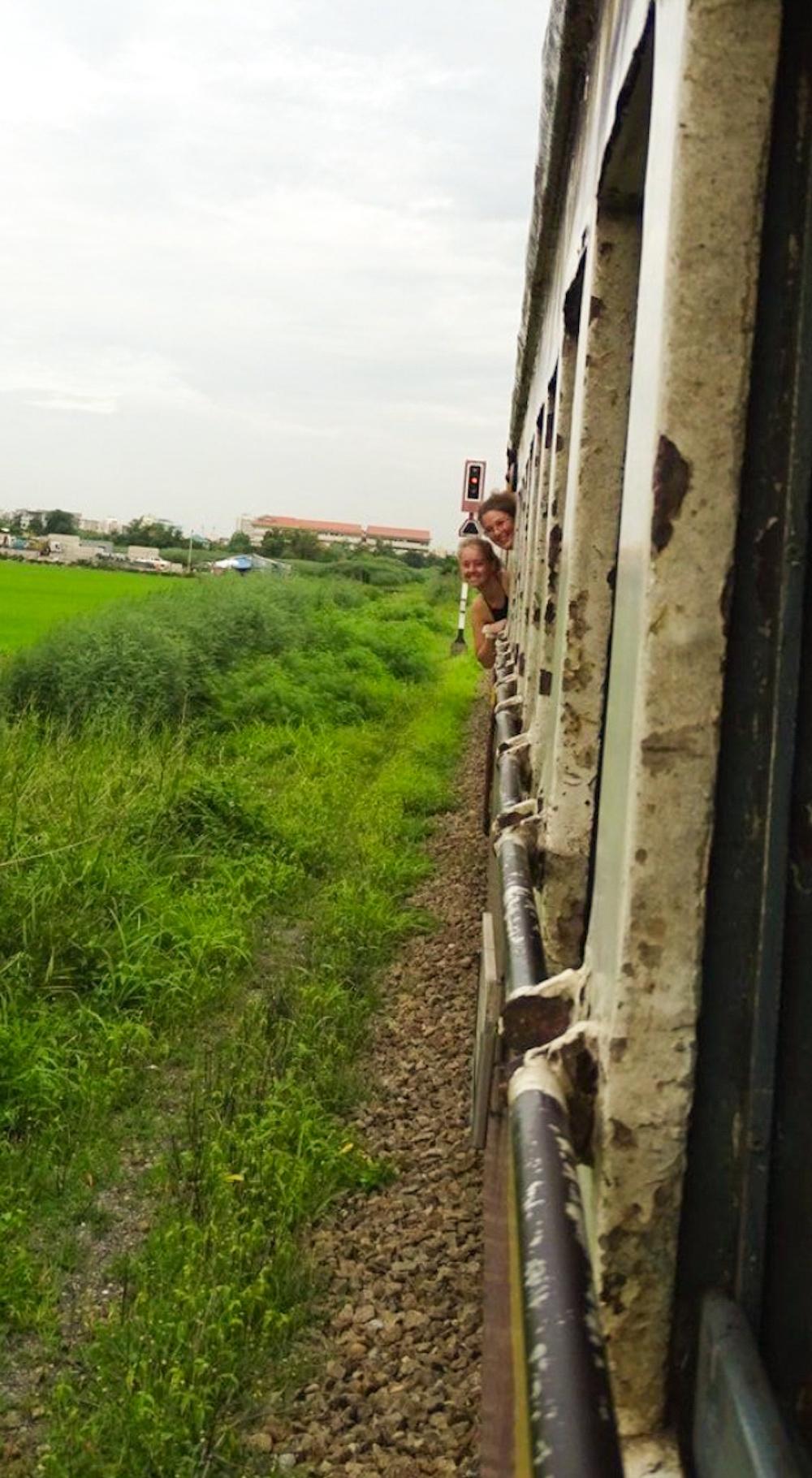 Kanchanaburi in Thailand trein