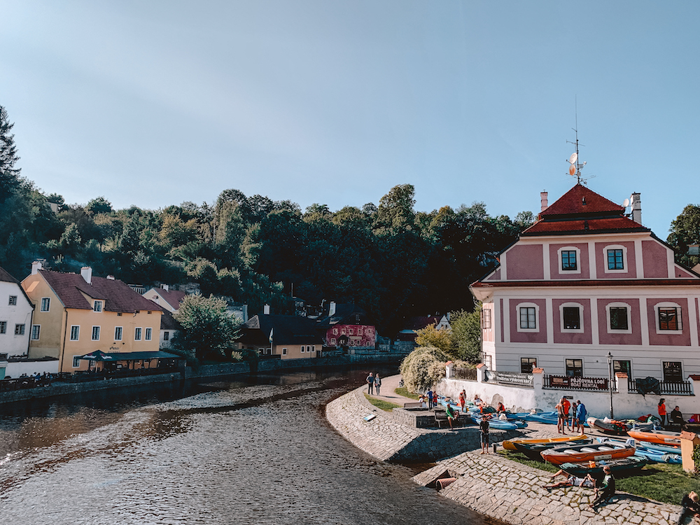 Kanoën in Cesky Krumlov