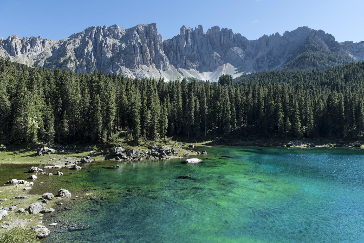 Danau Karersee Eggental South Tyrol