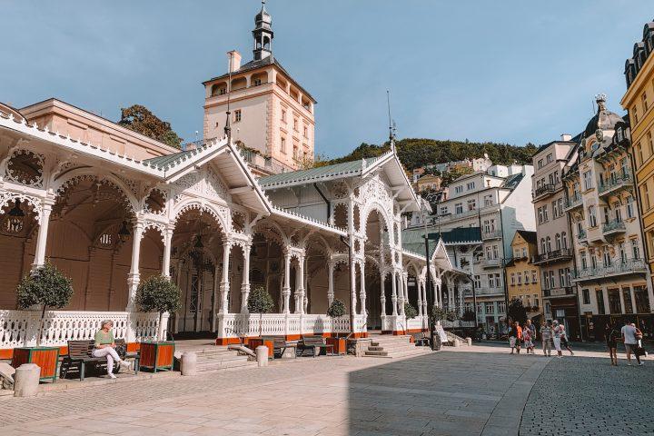 Karlovy Vary, mooie stad in Tsjechië