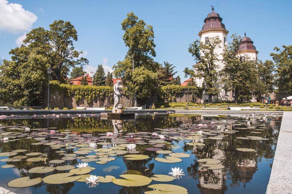 Kasteeltuin Ksiaz Polen kastelen