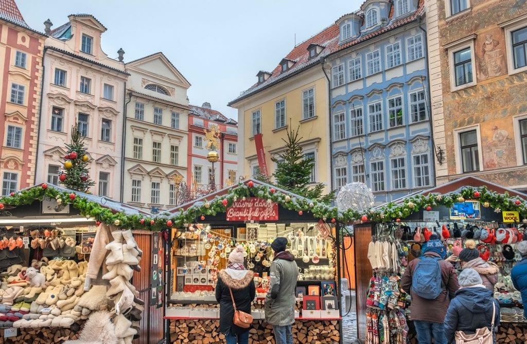 Kerst vieren in Praag marktje_