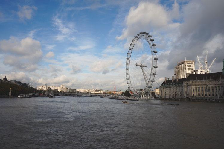 Kerstshoppen Londen uitzicht reuzenrad