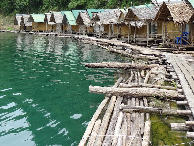Khao sok floating bungalows