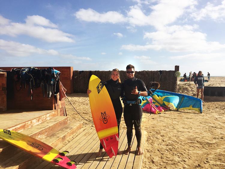 Kitesurfen Sal Kite Beach surfen marleen Hoftijzer