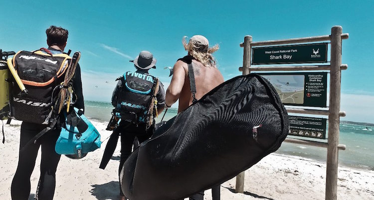 Kitesurfen blouberg Shark Bay beginners les